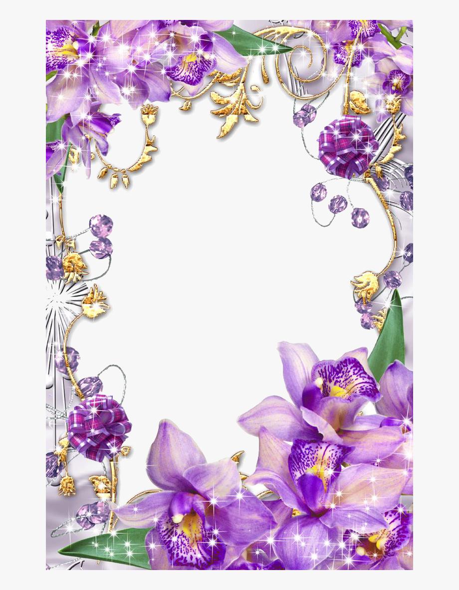 Purple Border Frame Png Transparent Image.