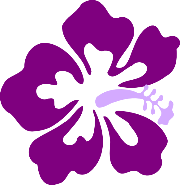 Purple Flower Clipart.