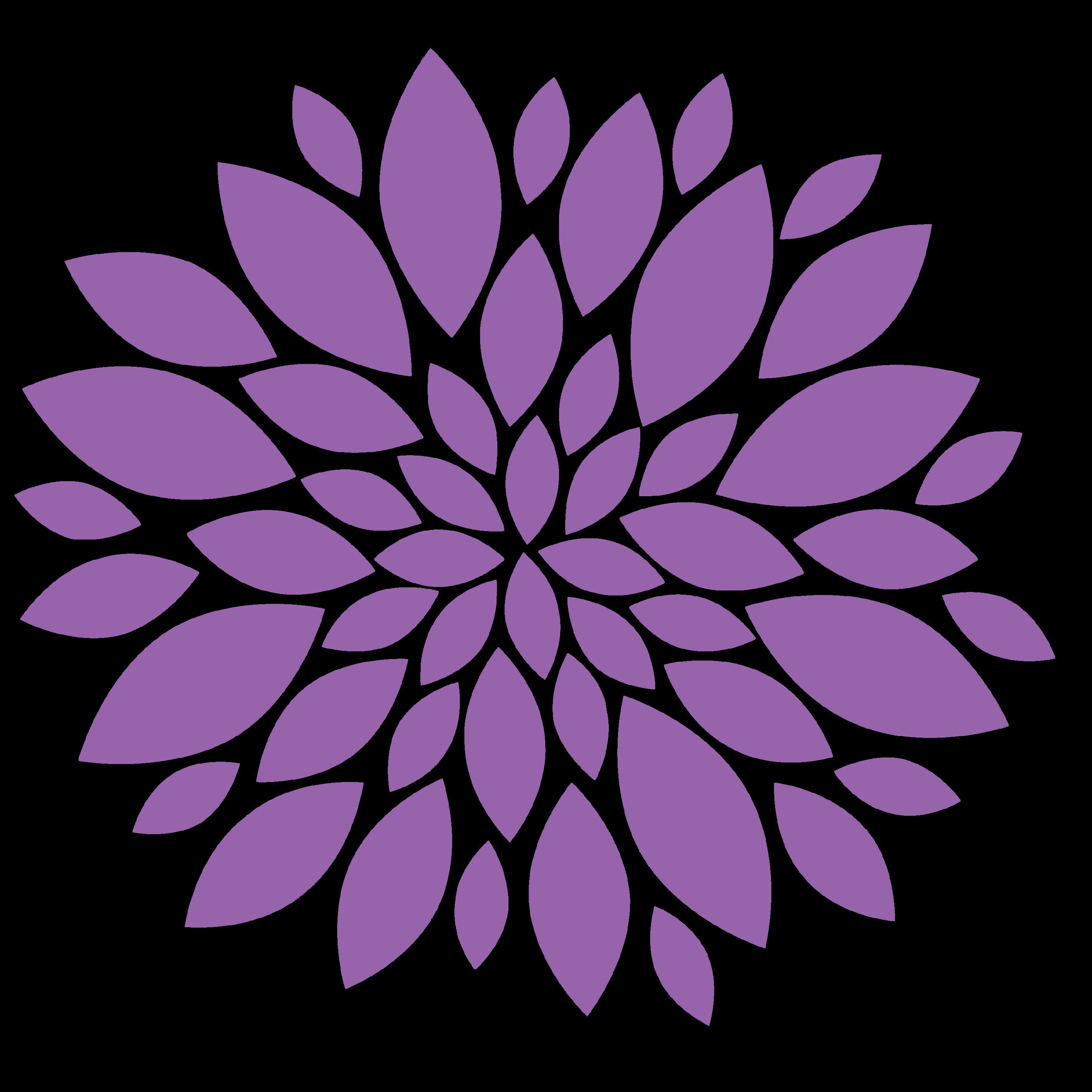 purple flowers clip art images.