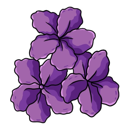 Purple flower clipart no background.