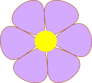 Purple flower clip art.