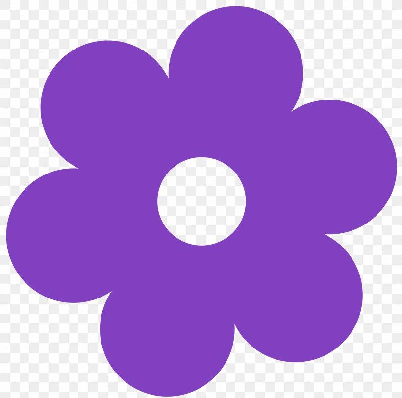 Purple Flower Yellow Clip Art, PNG, 2555x2533px, Flower.