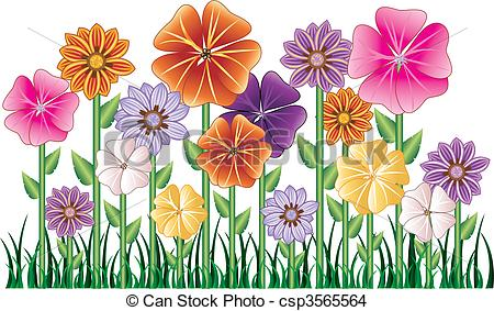EPS Vector of Flower Garden.