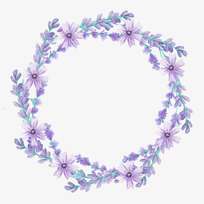 Wreath, Lavender, Flowers PNG Transparent Clipart Image and.