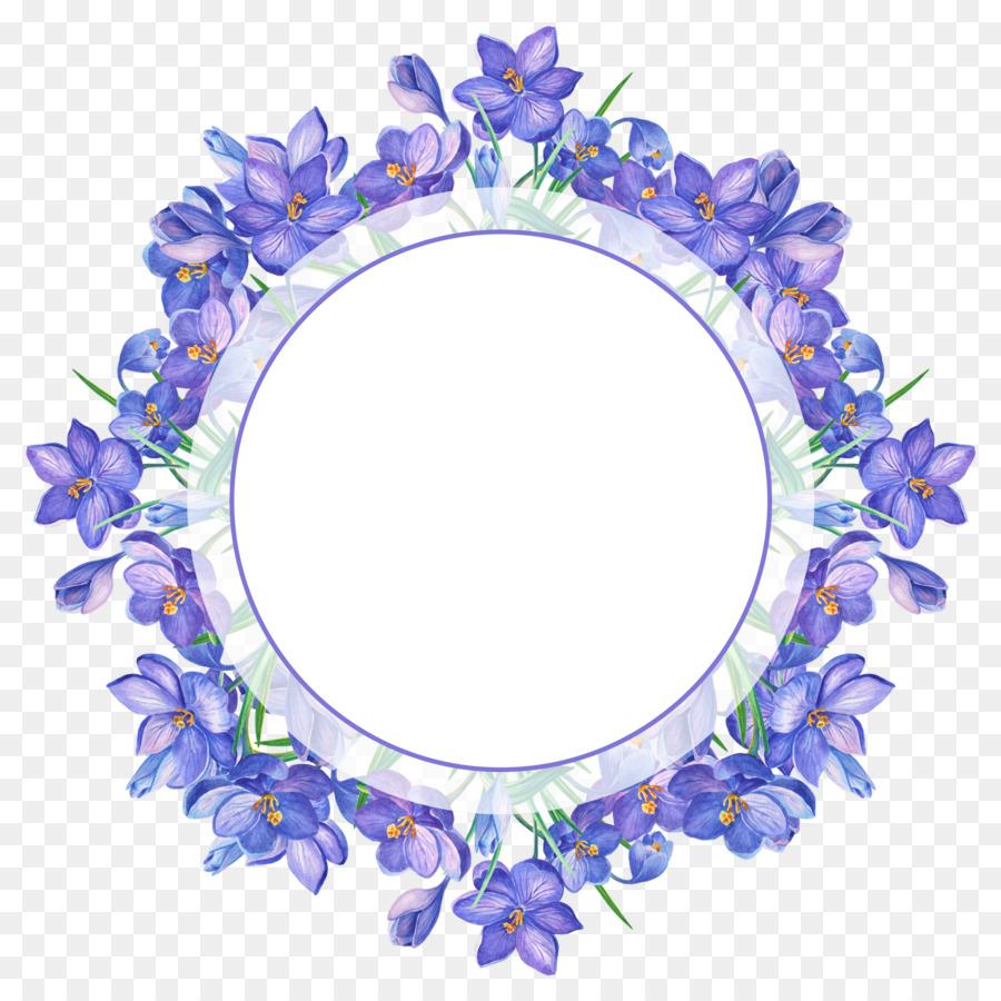 Purple Flower Wreath clipart.