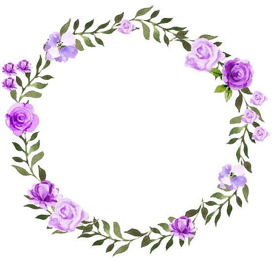 Purple Wreath Clipart.