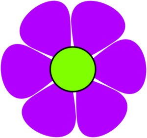 Purple flowers clip art.