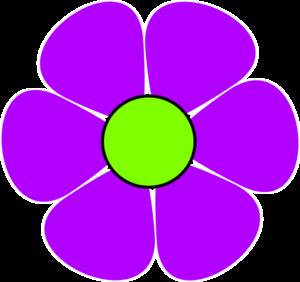 Purple flowers clip art.