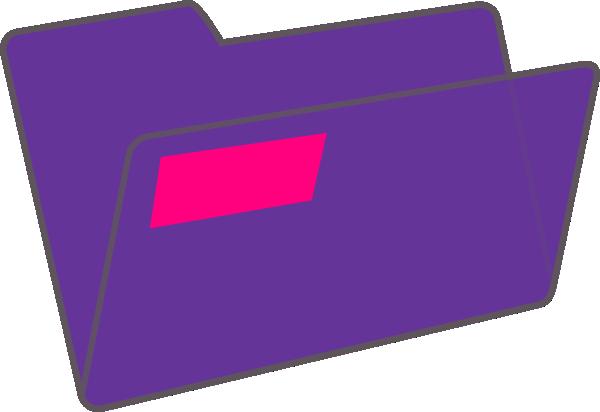 Purple Folder Clip Art at Clker.com.