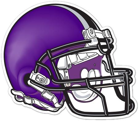 Purple Football Helmet Clipart.