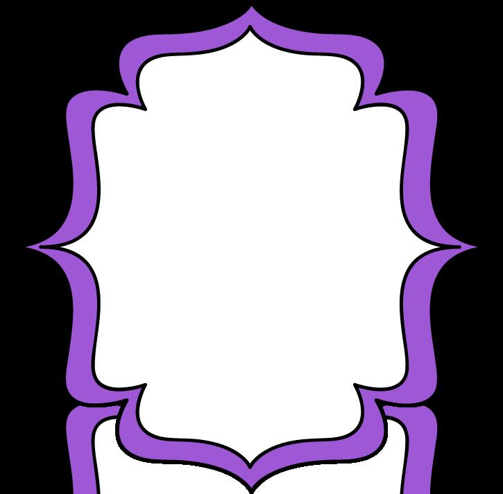 Purple Double Bracket Frame.