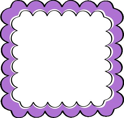 Purple Scalloped Frame.