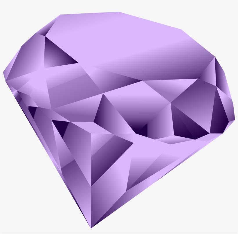 Gems Clipart Purple Diamond.