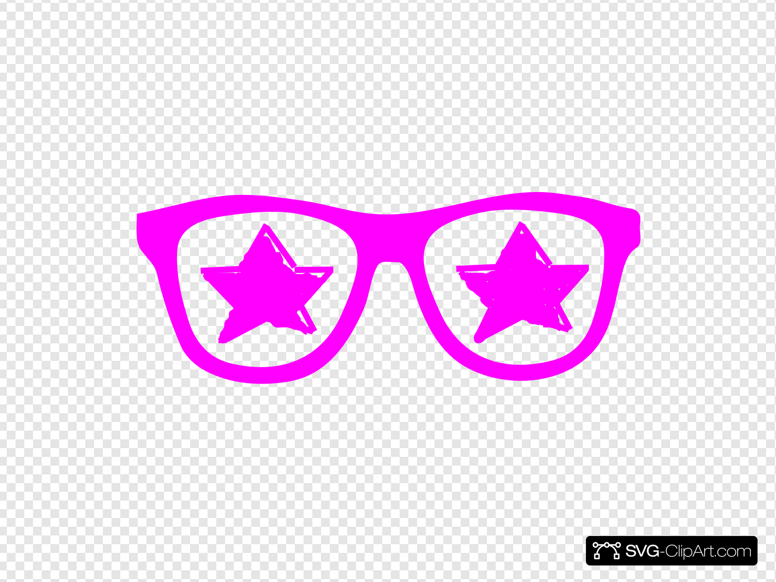 Purple Star Glasses Clip art, Icon and SVG.