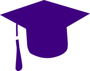 Purple Grad Cap Clip Art at Clker.com.