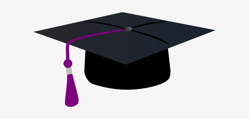 Graduation Hat With Purple Tassle Clip Art.