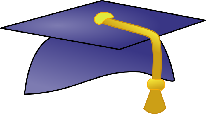 Purple Graduation Hat Clip Art.