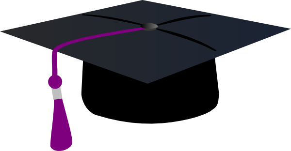 Graduation Hat With Purple Tassle Clip Art at Clipart.