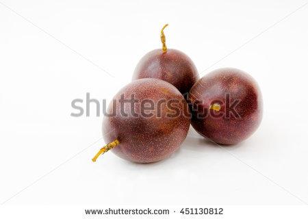 Purple Granadilla Stock Photos, Royalty.
