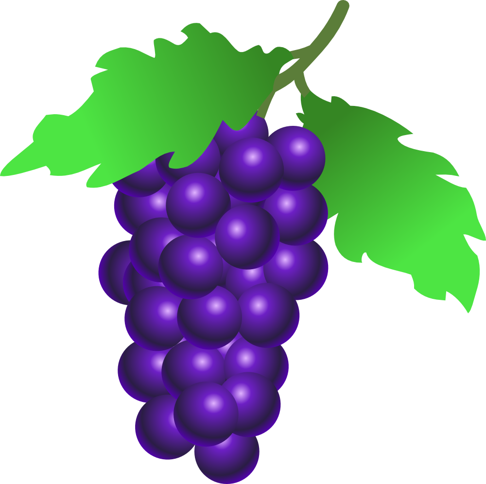 Purple grapes clipart clipart images gallery for free.