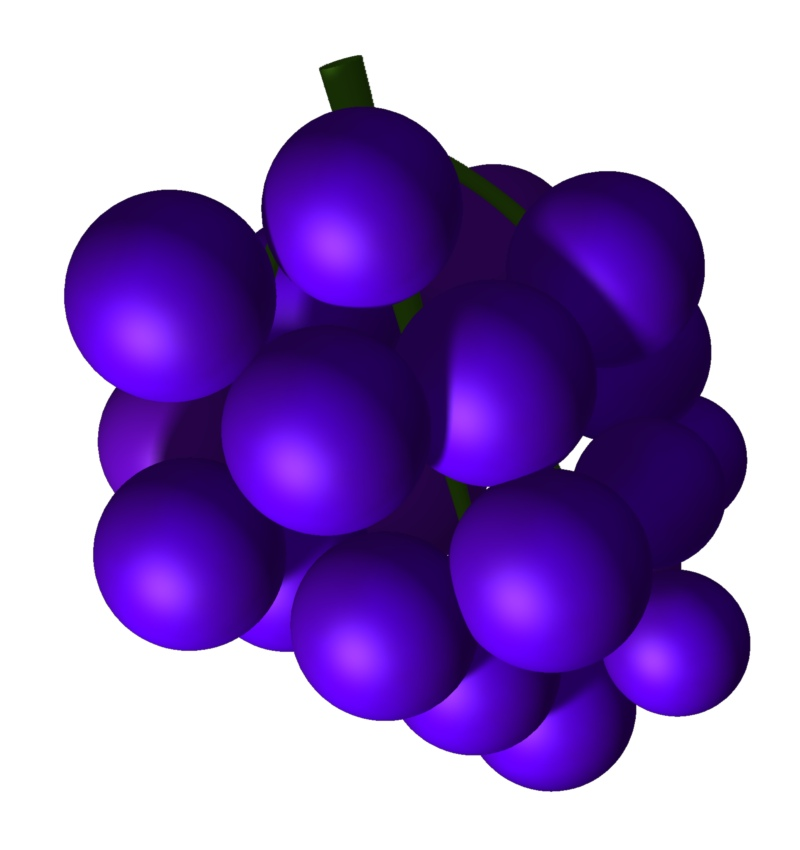Purple Grapes Clipart.