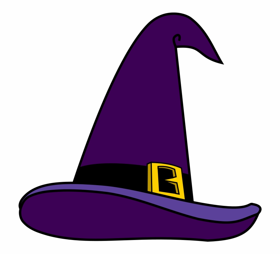 Purple Witch Hat Png Picture.