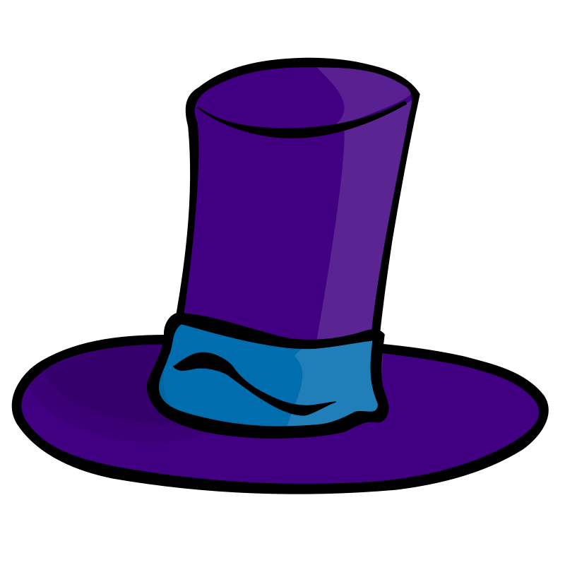 Free Clipart: Purple hat.