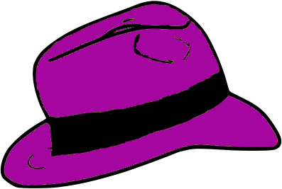 File:Purple Fedora hat.png.