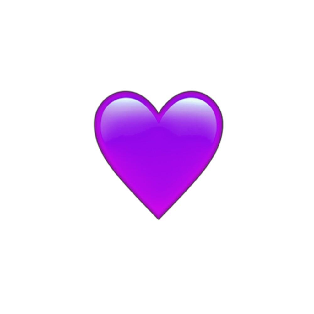 Purple heart emoji sticker\