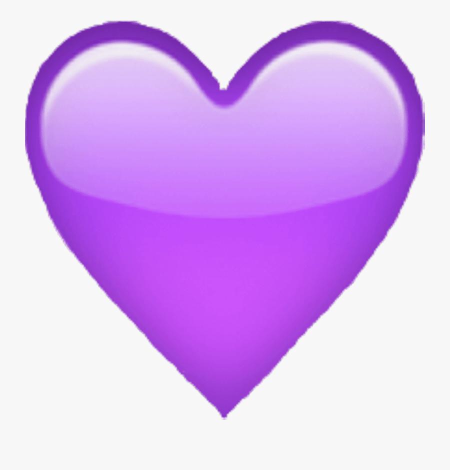 Purple Heart Emoji Apple , Free Transparent Clipart.