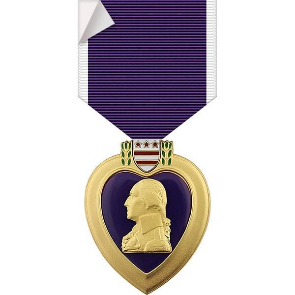 Purple Heart Medal Sticker.