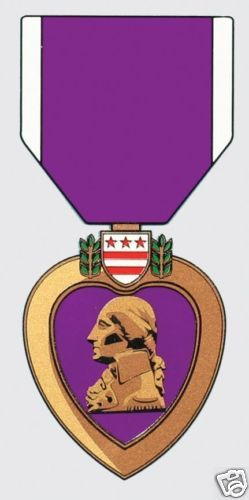 Purple Heart Medal Military Sticker Decal.