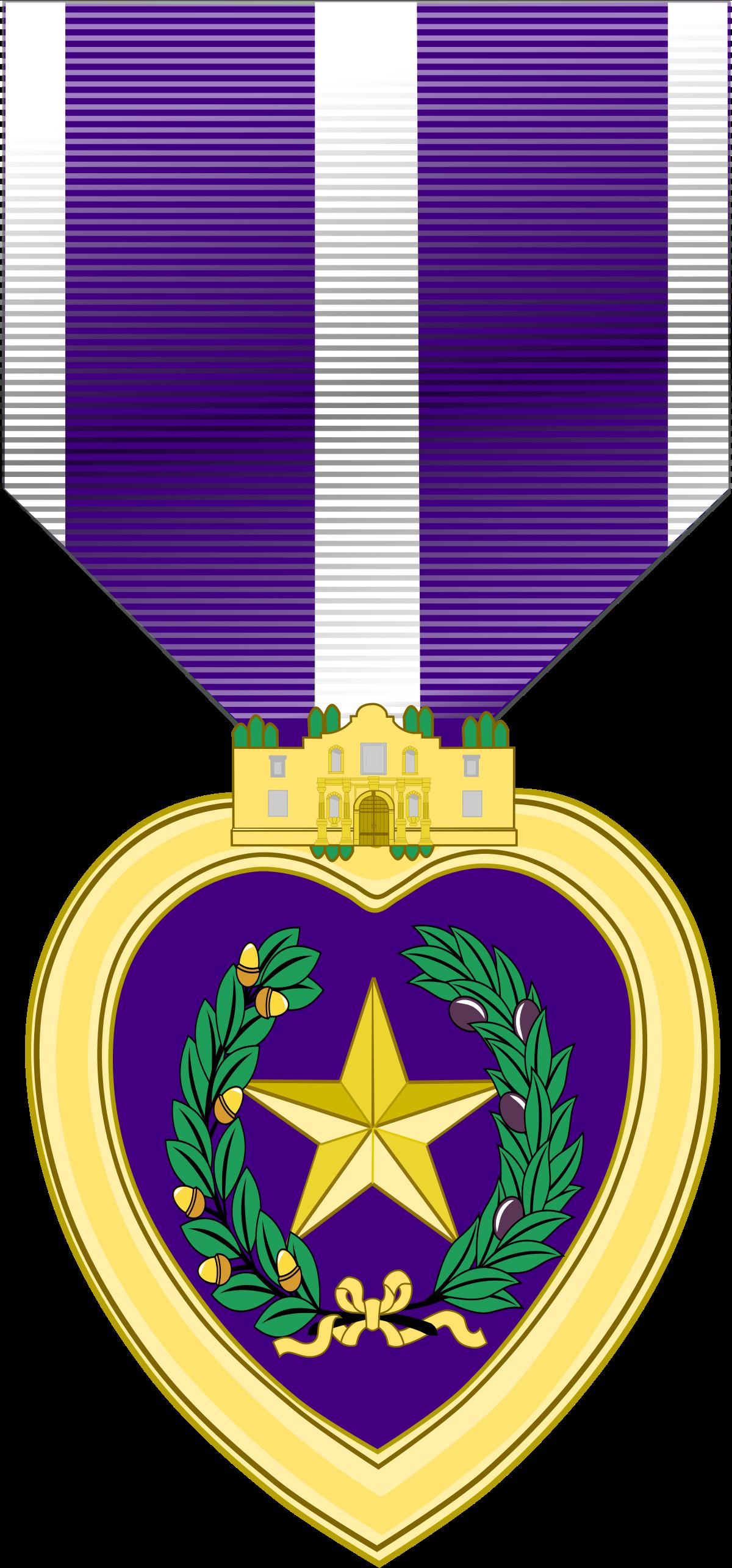 Texas Purple Heart Medal.