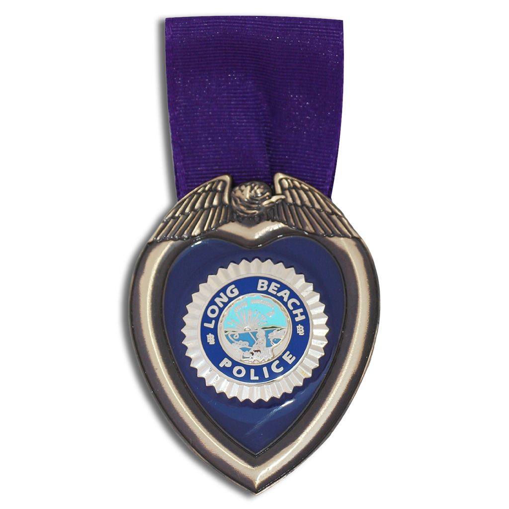 Long Beach PD Purple Heart Medal.
