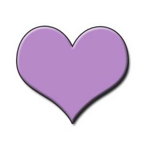 Purple heart clip art free clipart images 2.
