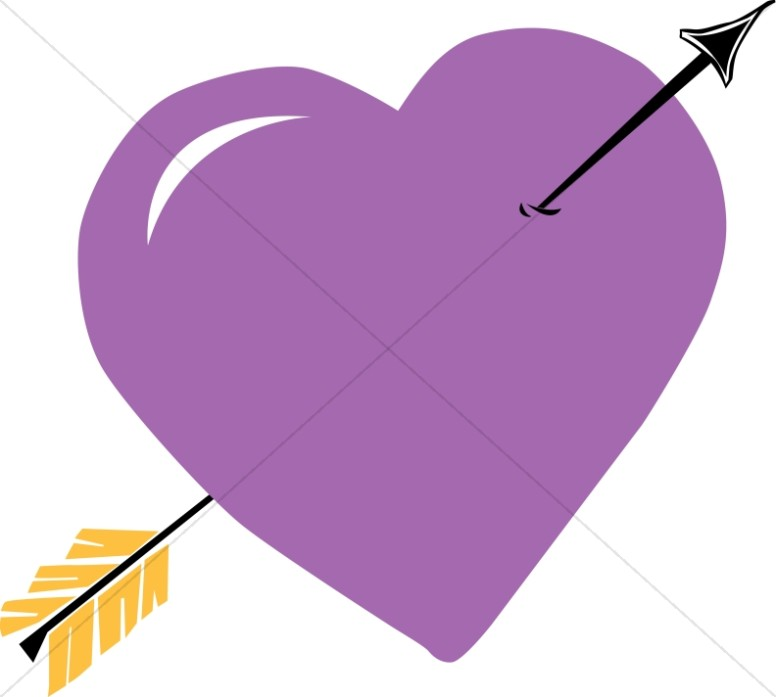 Purple Heart with Arrow.