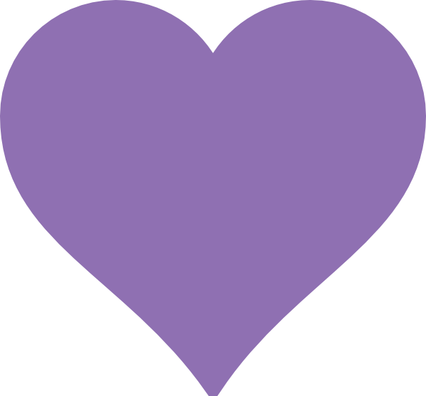 PURPLE HEART SHAPE.
