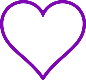 Purple Heart Outline Clip Art at Clker.com.