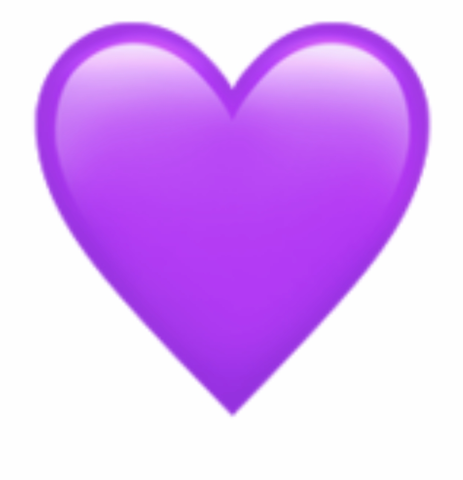 Purple Heart Emoji.