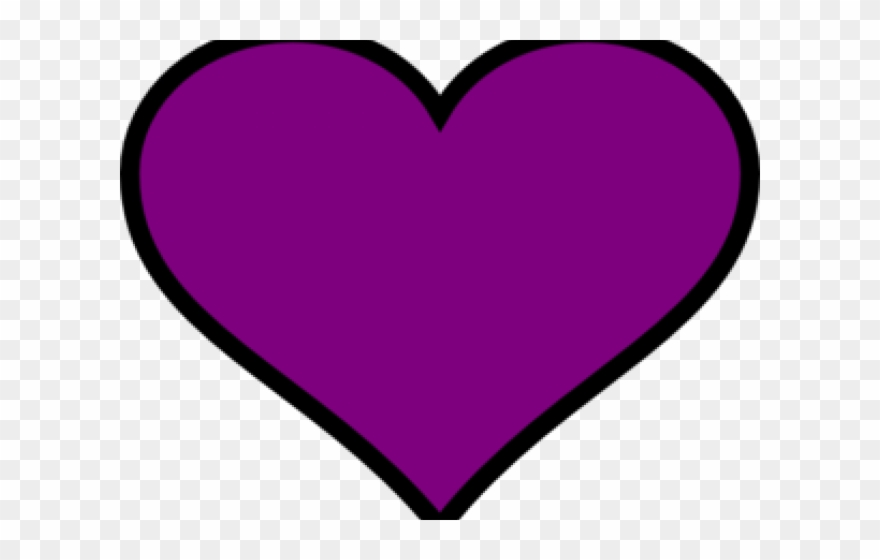 Dark Clipart Purple Heart.