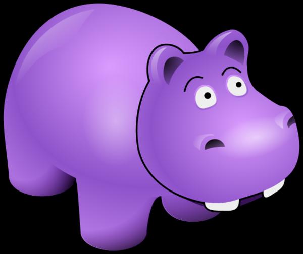 Purple hippo clipart kid 3.