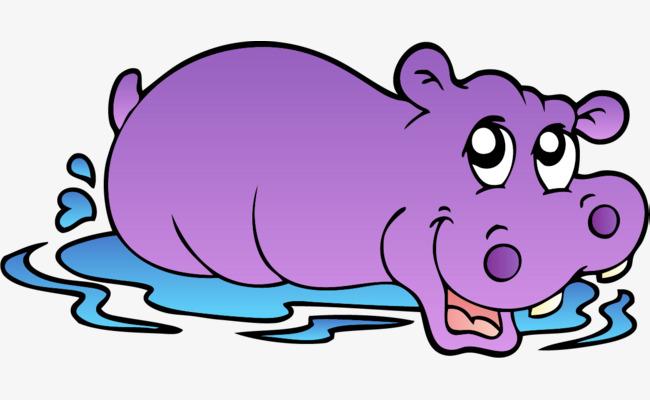 Purple hippo clipart 5 » Clipart Station.