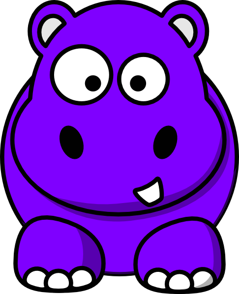 Purple Hippo Clip Art at Clker.com.