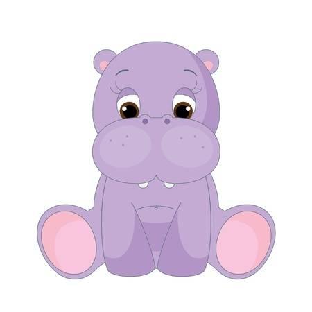 Purple hippo clipart 1 » Clipart Station.