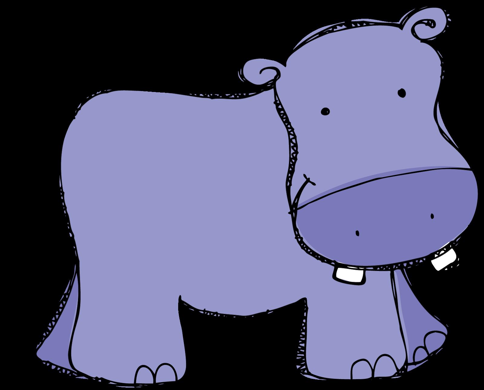 Purple hippo clipart kid.