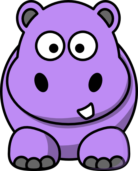 Cartoon Hippo Clip Art at Clker.com.