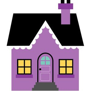 Purple house.