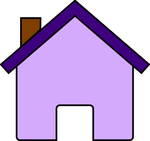 Purple house clipart 1 » Clipart Portal.