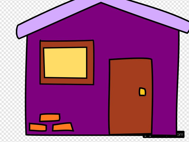 Purple House Clip art, Icon and SVG.