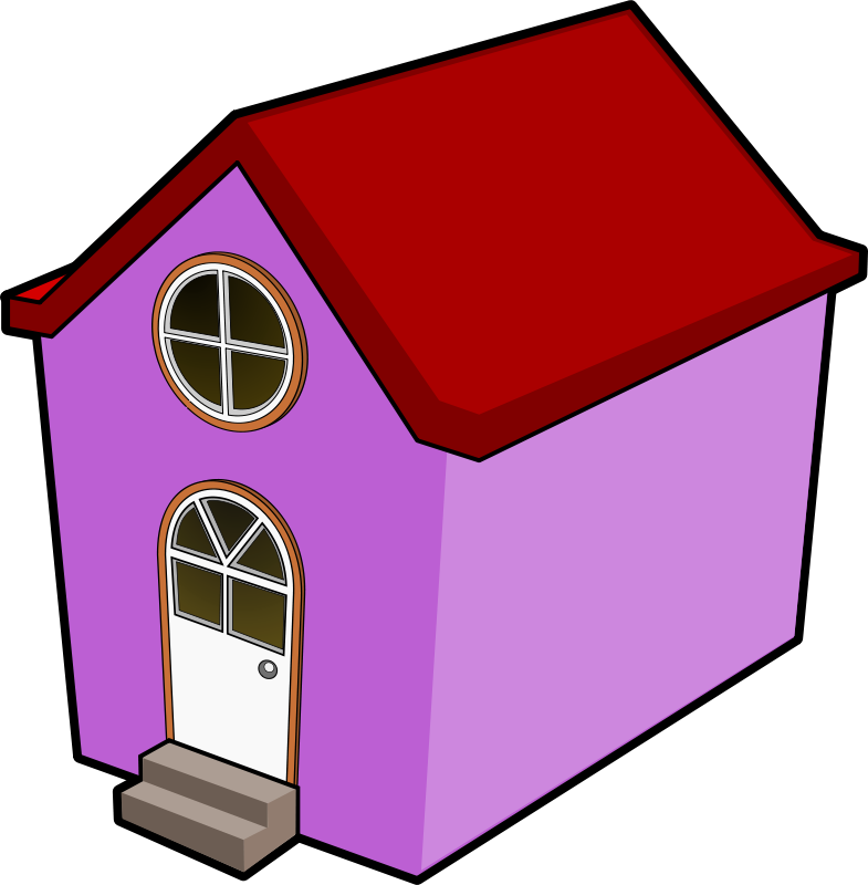 Free Clipart: A Little Purple House.